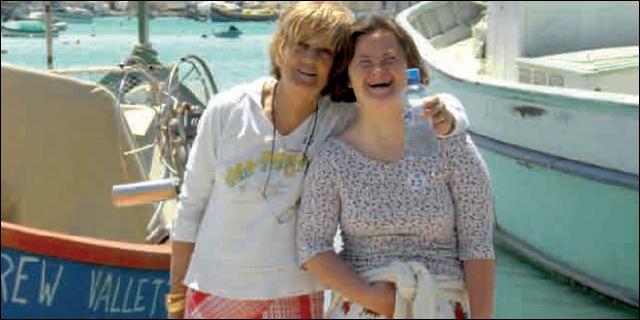 Sonia Mc Hardy y su madre