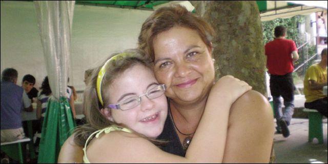 Paula con su madre Loli