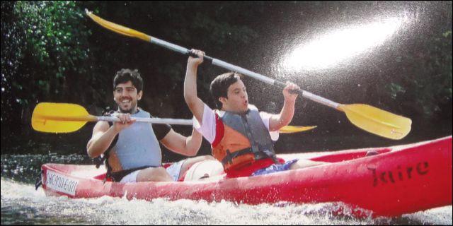 Carmelo Barquín y su hermano Manu