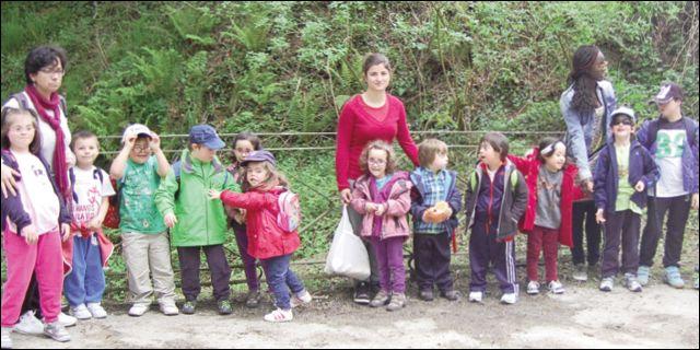 Grupo en la Granja Escuela de La Garma
