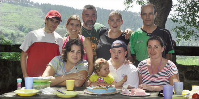 Sandro y toda su familia