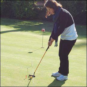 Haciendo deporte en el campo de golf